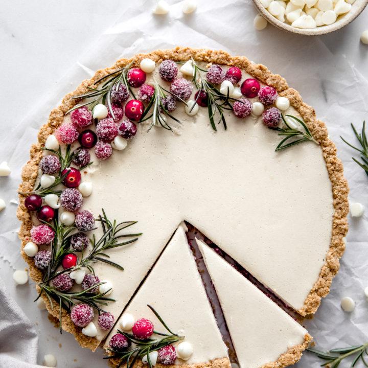 Cranberry White Chocolate Tart